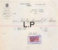31-1682   1937 KIRBY BEARD A PARIS - M. VIGNES A PARIS - 1900 – 1949