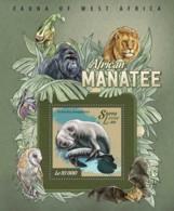 Sierra Leone   2015 Fauna  African Manatee - Sierra Leone (1961-...)