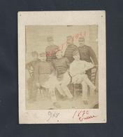 MILITARIA PHOTO SUR COLLER CARTON DE 9X8 MILITAIRE GROUPE SOLDATS DU 97e SUR LE COL 1870 GUERRE ? NON ECRITE : - Guerre, Militaire