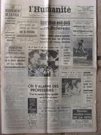 Journal L'Humanité (15 Sept 1962) Mouvement Paix - Cri Professeurs - Bagneux - Pouillo - Cousteau -Mont Blanc- - Journaux - Quotidiens