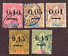 Madagascar N°51/55 Oblitérés  TB Cote 75 Euros !!! - Madagascar (1889-1960)