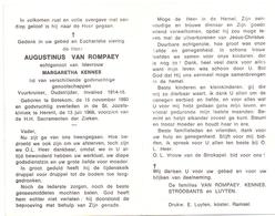 Devotie Doodsprentje Overlijden - Oudstrijder Augustinus Van Rompaey - Betekom 1893 - Herent 1968 - Décès
