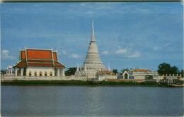 THAILAND - ISLAND TEMPLE - CHAO PHYA RIVER - SAMUTPRAKARN - EDIT THAI SILPA - STAMP - 1970s ( BG2874 ) - Thaïlande