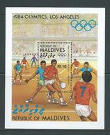 Maldives 1984 Los Angeles 1984 Olympic Games Miniature Sheet MNH - Maldives (1965-...)