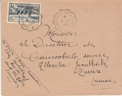 ESC 15f O. Convoyeur Ligne Constantine à Tunis 1949 - Tunisia (1888-1955)