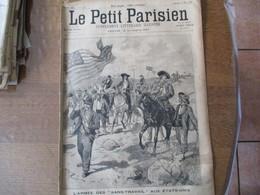 """LE PETIT PARISIEN DU 13 MAI 1894 L'ARMEE DES """"SANS-TRAVAIL"""" AUX ETATS-UNIS,LES TREMBLEMENTS DE TERRE EN GRECE - 1850 - 1899"""