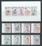 Dominican Republic 1957 Melbourne Olympic Games Winners & Flags Set 8 & Imperforate Miniature Sheet MNH - Dominican Republic