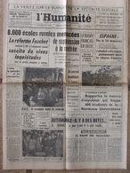 Journal L'Humanité (11 Sept 1964) Ecoles Rurales Menacées - Rugby Français En Deuil - Espagne-Scandale D'Antony - Journaux - Quotidiens