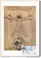 43726  ITALIA,  MAXIMUM 2015 Painting Of Leonardo Da Vinci, Dimensions Of The Human Body, Stamp High Value !!!! - Arte