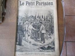 """LE PETIT PARISIEN DU 20 MAI 1894 TROIS PRISONNIERS FRANCAIS AU TONKIN,LE GENERAL FERRON,LA 1000me REPRESENTATION DE """"MIG - 1850 - 1899"""