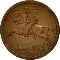 Monnaie, Lithuania, 10 Centu, 1991, TTB, Bronze, KM:88 - Lithuania