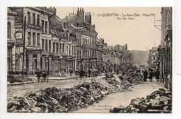 - CPA SAINT-QUENTIN (02) - La Rue D'Isle - Mars 1919 (avec Personnages) - Photo-Edition Bille N° 7 - - Saint Quentin