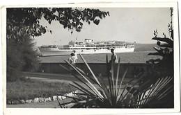 Crikvenica 1957- Ship (Postcard Cutting Error) - Yougoslavie