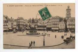 - CPA SAINT-QUENTIN (02) - Place De L'Hôtel De Ville 1912 - Côté Du Beffroi - Edition P. D. N° 5 - - Saint Quentin