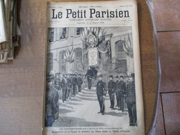 """LE PETIT PARISIEN DU 27 MAI 1894 LE CENTENAIRE DE L'ECOLE POLYTECHNIQUE,L'ACCIDENT DU """"LAZARE-CARNOT"""" UN BALLON SUR UN T - 1850 - 1899"""