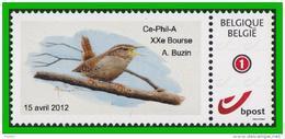 BUZIN - Troglodyte Mignon - Ce-Phil-A (Auvelais) 15-04-2012 - Papier Autocollant - Private Stamps