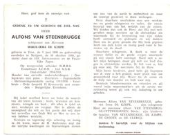 Devotie Doodsprentje Overlijden - Oudstrijder Alfons Van Steenbrugge - Eine 1890 - Strijpen 1968 - Décès