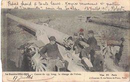 MILITARIA GUERRE 14/18 CANON 155 CHARGE OBUS - Repas Froid Service Permanent Et Gratuit De Marmittes Pour Les Boches - Guerra 1914-18