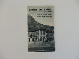 Dépliant Touristique Sur LSalins-les-Bains (Jura). - Dépliants Touristiques