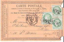 5c.Céres X 3. Oblitéré G.C.2668 Dateur Type 17 De NOGENT LE ROTROU  EURE ET LOIR (1 Timbre Défectueux) - Marcophilie (Lettres)