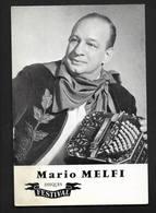 Mario Melfi Accordéon Tango - Carte Postale Publicité Promotion Disques Festival - Artistes