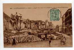 - CPA SAINT-QUENTIN (02) - Angle Des Rues De La Sellerie Et De La Sous-Préfecture 1921 (avec Personnages) - - Saint Quentin