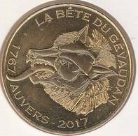 MONNAIE DE PARIS 43 SAUGUES Musée Fantastique De La Bête Du Gévaudan - 1767 Auvers 2017 - 2017