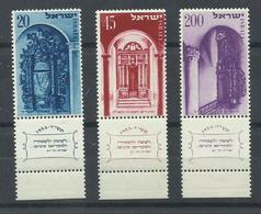 ISRAEL YVERT  68/70  MNH  ** - Israel