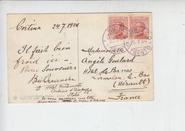 ITALIA  1929 - Sassone  127 -  Cartolina Da Dobbiaco Per La  Francia (annullo Colore Violetto) - 1900-44 Vittorio Emanuele III