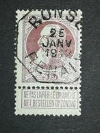 COB N ° 77 Oblitération Télégraphe Ronse Renaix 1912 - 1905 Grosse Barbe