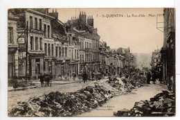 - CPA SAINT-QUENTIN (02) - La Rue D'Isle - Mars 1919 - Photo-Edition Bille N° 7 - - Saint Quentin
