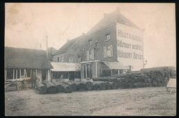WETTEREN ZELDZAME KAART - HOUTHANDEL - NOBERT BEYST  GESTICHT IN 1882  - 2 AFBEELDINGEN - Wetteren