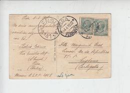 """ITALIA  1922 - Cartolina Da Pisa A Lisbona (Portogallo) - Annullo """"CENSURA 41"""" - 1900-44 Vittorio Emanuele III"""