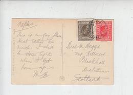 JUGOSLAVIA  1927 - Cartolina Diretta In Scozia - 1919-1929 Regno Dei Serbi, Croati E Sloveni