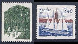 Sweden Sverige 1983 Mi 1230 /1 YT 1212 /3 SG 1150 /1 ** Family Cycling In Countryside + Yachts In Riddarfjärden - Vakantie & Toerisme