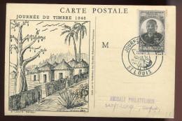 CP. AOF - Félix Eboué   - Journée Du Timbre 1946  - - A.O.F. (1934-1959)