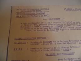 Direction Du Personnel De L'armée De Terre,1961, Algérie, Nouvelle Affectation - Documents