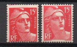 - FRANCE Variété N° 813d ** - 15 F. Rouge Marianne De Gandon - FAUX DE MARSEILLE - Cote 70 EUR - - Errors & Oddities