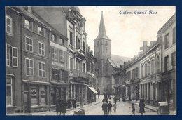 Arlon. Grand Rue. Ancienne église St. Martin. Café Du Globe. Au Transvaal.  Passants.1914 - Arlon