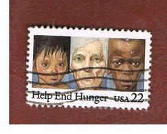 """STATI UNITI (U.S.A.) - SG 2203  - 1985  """"HELP END HUNGER"""" - USED - Stati Uniti"""