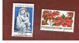 STATI UNITI (U.S.A.) - SG 2205.2206  - 1985  CHRISTMAS (COMPLET SET OF 2) - USED - Stati Uniti