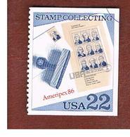 STATI UNITI (U.S.A.) - SG 2212  - 1986 AMERIPEX '86: STAMPS COLLECTING - USED - Stati Uniti
