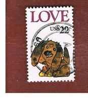 STATI UNITI (U.S.A.) - SG 2213  - 1986 GREETINGS STAMPS: LOVE (PUPPY) - USED - Stati Uniti