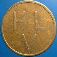 KB198-1 - HLV Huygens Lyceum Drommedaris Camel - Voorburg - B 22.0mm - (Koffie) Kantine Penning - (Coffee) Machine Token - Professionnels/De Société