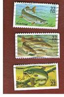 STATI UNITI (U.S.A.) - SG 2216.2220  - 1986 FISHES - USED - Stati Uniti