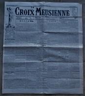 55 BAR LE DUC  Journal LA CROIX MEUSIENNE 1929 Commercy St Mihiel Etain Verdun TOP PUB Tampon Mairie - Journaux - Quotidiens