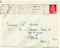 DROME - Dépt N° 26 = ROMANS Sur ISERE 1949 = FLAMME RBV' CENTENAIRE RATTACHEMENT DAUPHINE ' - Postmark Collection (Covers)
