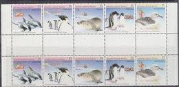AAT 1988 Environment 5v Gutter ** Mnh (42198) - Australisch Antarctisch Territorium (AAT)
