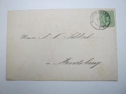 1879 , GLÜCKSTADT , Klarer Stempel Auf Karte - Schleswig-Holstein