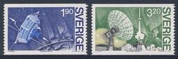 "Sweden Sverige 1984 Mi 13050/6 YT 1287 /8 SG 1211 /2 ** Satellite  ""VIKING"" + Dish Aerial, Rocket Pad / Raumfahrtkontrol - Telecom"